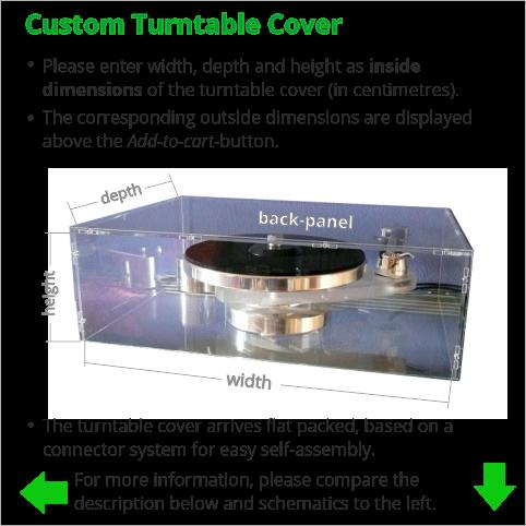 custom turntable cover
